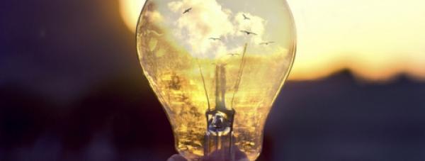 Через призму лампочки