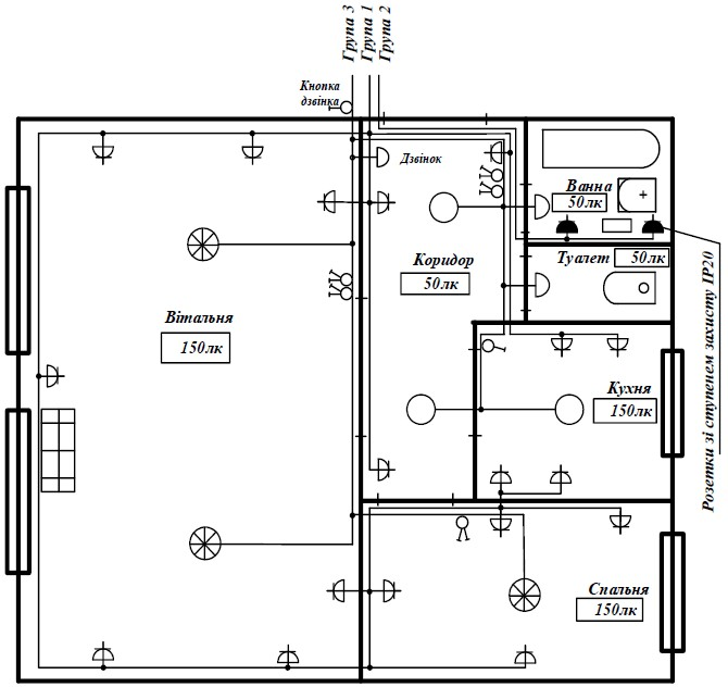 Квартирна проводка на схемах і умовні позначення – ELECTRIC «ПРО ... a75251ef03949