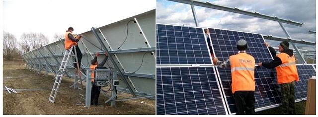 Монтаж сонячних панелей на готові системи кріплення